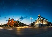 假定的大教堂在瓦尔纳,保加利亚2017年 库存图片