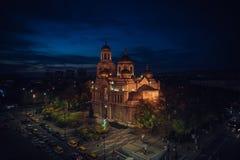 假定的大教堂在瓦尔纳 库存图片