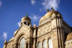 假定的大教堂,瓦尔纳,保加利亚 免版税库存照片