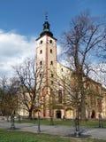 假定的教会在Banska Bystrica 免版税库存图片