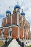 1507 1533年假定建立了大教堂年 梁赞市,俄罗斯 库存照片