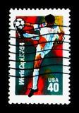 假定Ball, 1994年世界杯足球赛冠军serie, circ 库存图片