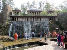 假山花园,昌迪加尔,印度 库存图片