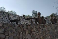 假山花园,玩偶博物馆,昌迪加尔,印度 图库摄影