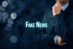 假新闻威胁 免版税库存图片
