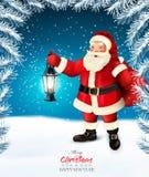 假日与圣诞老人的圣诞节背景 库存照片