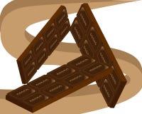 假日世界天巧克力和甜点 皇族释放例证