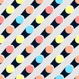 假日减速火箭的圆点五颜六色的无缝的样式 免版税库存图片