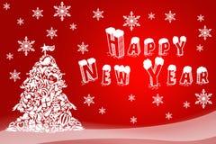 假日卡片的圣诞节例证 新年快乐的手拉的图象 贺卡的,商标欢乐的飞行物,购物 图库摄影