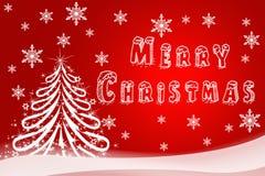 假日卡片的圣诞节例证 新年快乐的手拉的图象 贺卡的,商标欢乐的飞行物,购物 免版税库存图片