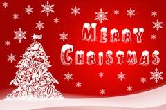 假日卡片的圣诞节例证 新年快乐的手拉的图象 贺卡的,商标欢乐的飞行物,购物 库存照片