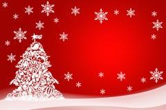 假日卡片的圣诞节例证 Ha的手拉的图象 免版税库存照片