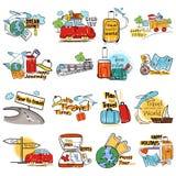 假日和旅行假期标记广告的标记贴纸 库存图片