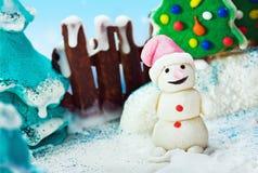 假日圣诞快乐的甜点 免版税库存照片