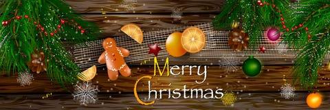 假日圣诞节背景 免版税库存图片