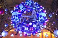 假日圣诞节花圈澳门瓷 免版税图库摄影