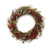 假日圣诞节花圈 免版税库存图片