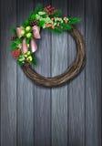 假日圣诞节花圈 库存图片