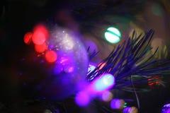 假日在您,新年装饰附近点燃 图库摄影