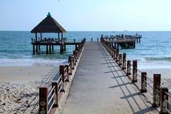 假日在柬埔寨 从海滩的美丽的景色 旅行令人敬畏的世界  夏天休息 图库摄影