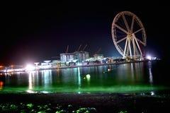 假日地方海滩夜视图 图库摄影