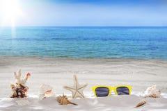 假日夏天,海滩 免版税库存图片