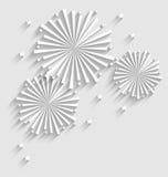 假日庆祝事件的烟花,平的样式长的阴影 库存图片