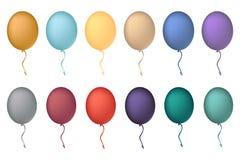 假日庆祝的色的气球 气球概念12月 免版税库存照片