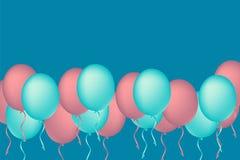 假日庆祝的色的气球 气球概念12月 免版税图库摄影
