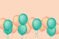 假日庆祝的色的气球 气球概念12月 图库摄影