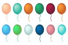 假日庆祝的色的气球 气球概念12月 免版税库存图片