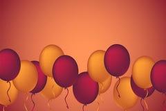 假日庆祝的色的气球 气球概念12月 库存图片