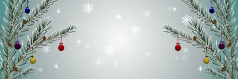假日拟订与装饰的圣诞节 向量例证