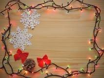 假日新年圣诞节框架 免版税图库摄影