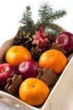 假日构成用圣诞节果子 免版税库存照片