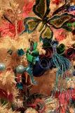 假日树,装饰用狂欢节题材 图库摄影