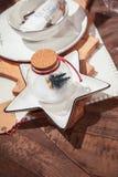 假日桌装饰 库存照片