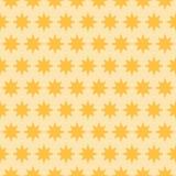 假日橙色星无缝的样式 免版税库存照片