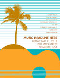 假日欢乐音乐海报模板 向量例证