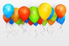 假日气球。传染媒介例证 库存照片