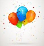 假日气球。传染媒介例证 库存图片