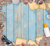 假日海滩概念 图库摄影
