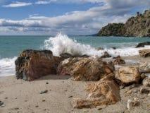 假日海滩西班牙 库存照片