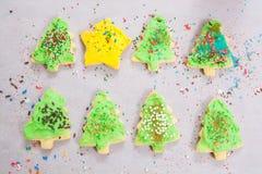 假日糖屑曲奇饼与洒 库存图片