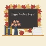 假日老师天在教室 免版税库存图片