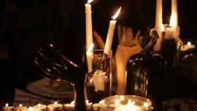 假日蜡烛为万圣夜 股票视频