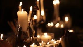 假日蜡烛为万圣夜 影视素材