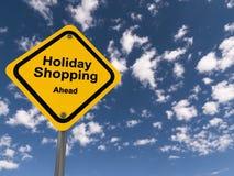 假日购物的黄色交通标志 库存例证