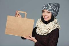 假日销售,购物,圣诞节概念 免版税库存照片