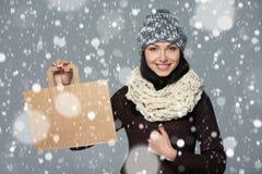 假日销售,购物,圣诞节概念 免版税图库摄影